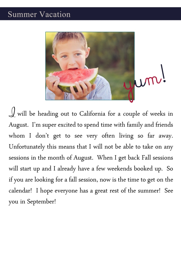 July summer vacation copy